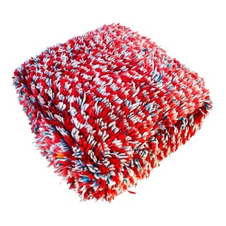 Square Moroccan Unstuffed Floor Pouf For Sale