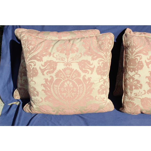 Traditional Late 20 C. Down Filled Pillows - Set of 4 For Sale - Image 3 of 8