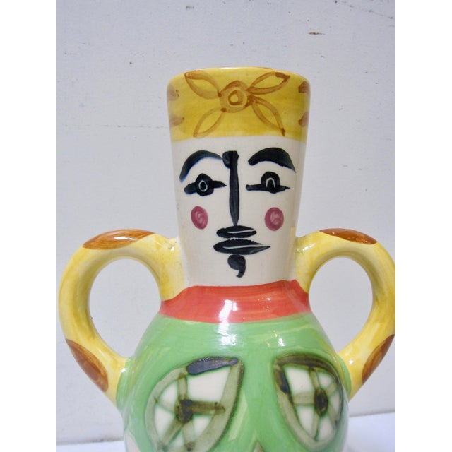 Pablo Picasso 1960s Vintage Pablo Picasso by Padilla Cubist Ceramic Face Vase, Signed For Sale - Image 4 of 7
