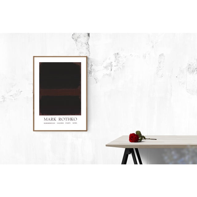 Mark Rothko 1970 Mark Rothko 'Marlborough Galleria d'Arte Roma' Abstract Black,Brown Lithograph For Sale - Image 4 of 5