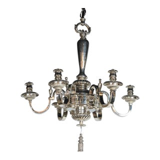Caldwell Silver Plated Six-Light Chandelier For Sale