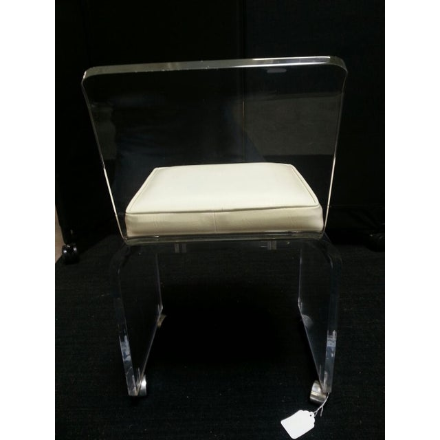 Vintage Lucite Table & Chair For Sale - Image 5 of 11
