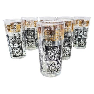 Mid-Century Tall Cocktail Glasses - Set of 7 For Sale