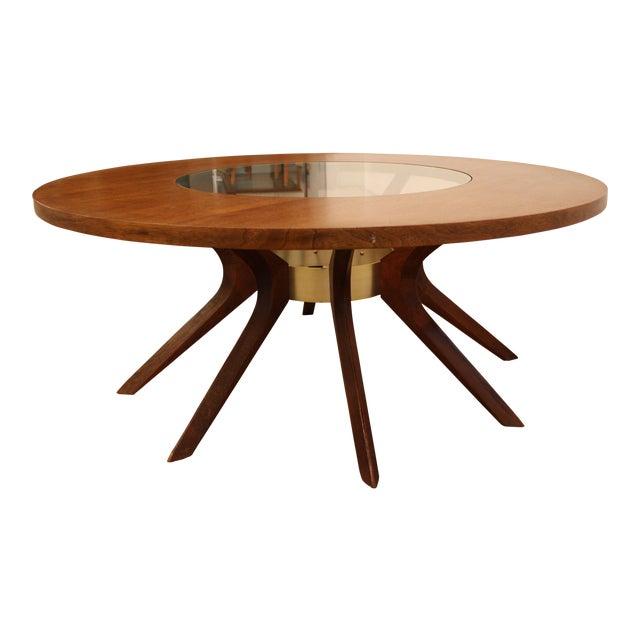 Mid Century Modern Round Coffee Tables: Mid-Century Danish Modern Broyhill Brasilia Round Sputnik