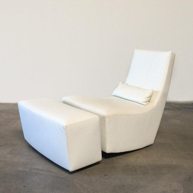 Modern Ligne Roset 'Neo' Rocking Chair & Ottoman by Alban-Sebastien Gilles For Sale - Image 3 of 6