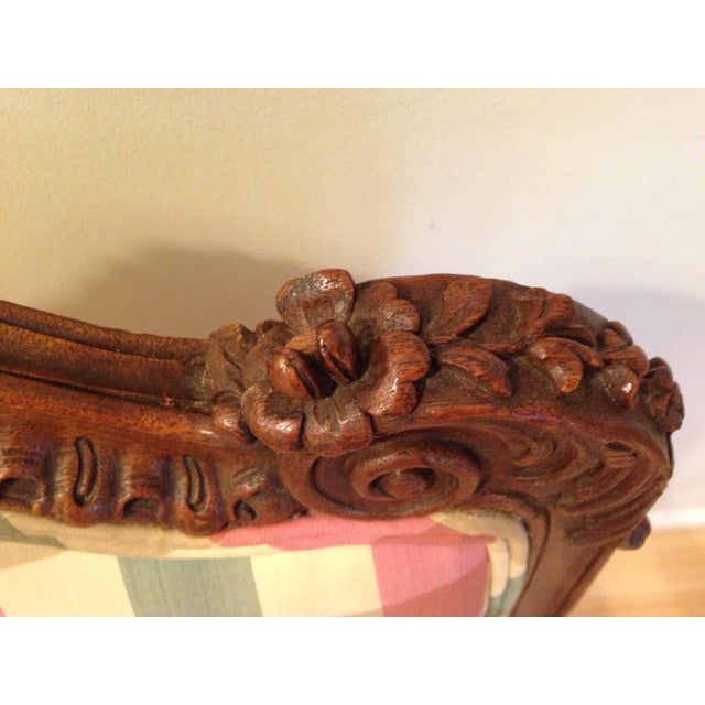 18th CenturyAntique French Louis XV Fauteuil Arm Chair For Sale - Image 9 of 13
