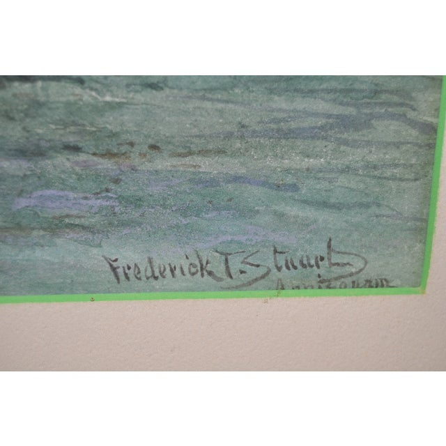 Watercolor by Frederick Stuart C.1900 For Sale - Image 4 of 6