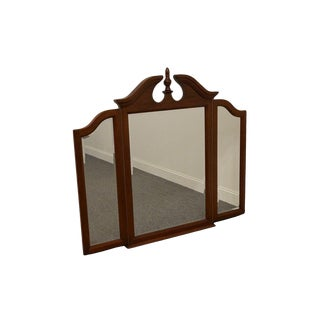 Sumter Furniture Cherry Manor Tri-Fold Dresser Mirror For Sale