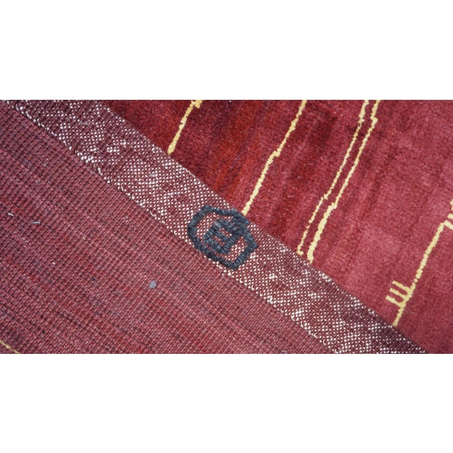 Boccara Exclusive Monochrome Wool Rug, Bordeaux For Sale - Image 4 of 6