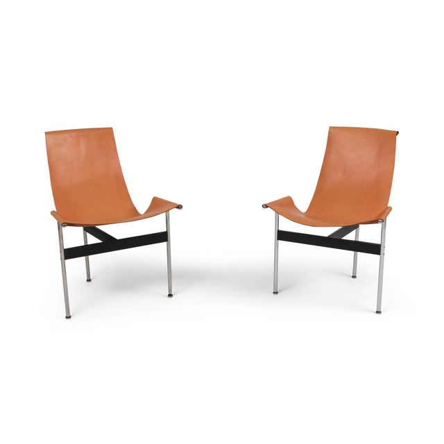 Katavolos, Kelley and Littell T-Chairs in Original Cognac Leather - 1970s For Sale - Image 10 of 10
