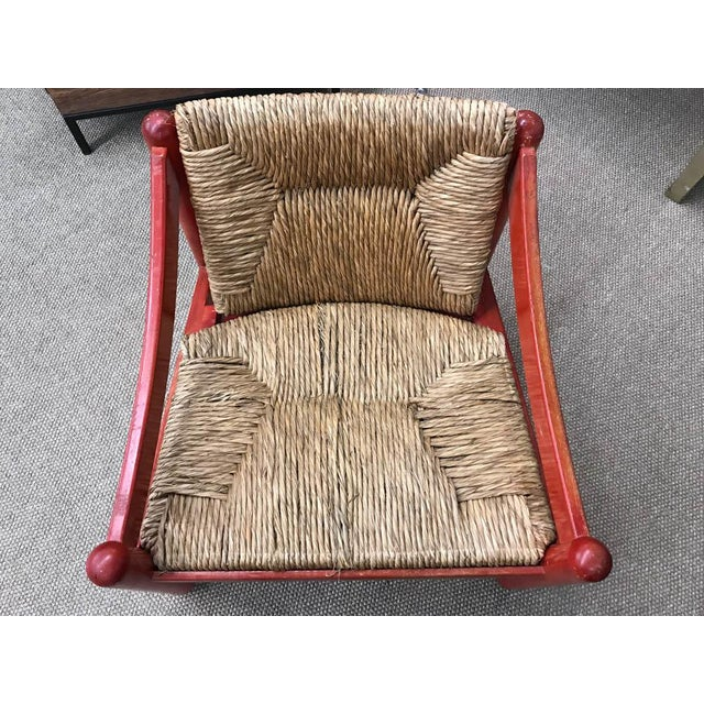 Mid Century Signed Cassina Italian Carimate Chair - Rush Seat - Image 5 of 8