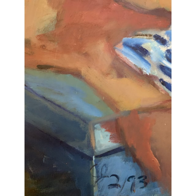 Nude Male Reclining Painting For Sale - Image 4 of 8
