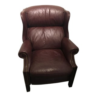 Hancock & Moore Leather Reclining Chair For Sale