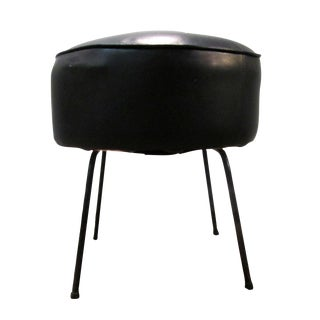 Danish Modern Atomic Black Stool For Sale