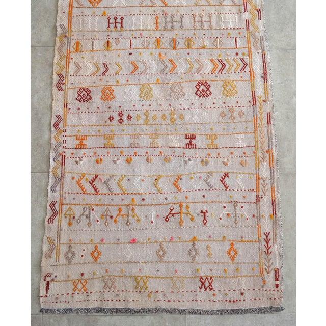 Antique Handmade Kilim Runner Rug Masterwork Cotton Jajim Hallway Decor - 2′9″ × 11′9″ For Sale - Image 10 of 12