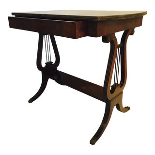 Lyre Side Table a La Mahogany For Sale