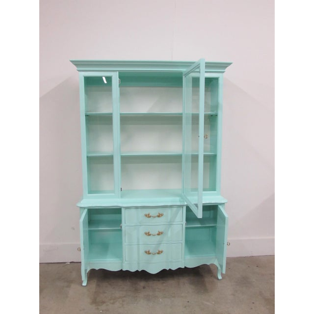 French Étagère Lacquered in Biscayne Shore For Sale - Image 4 of 10