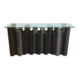 Brutalist Style Console Table