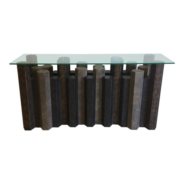 Brutalist Style Console Table For Sale