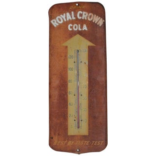 Royal Crown Cola Thermometer / Sign For Sale
