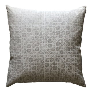 Boho Chic Walter G Batik Chalk Printed Linen Pillow For Sale