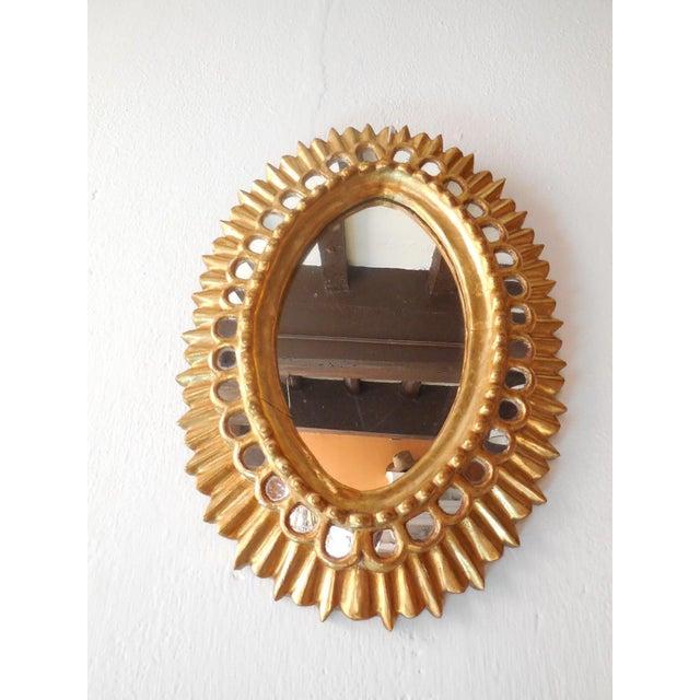 Gold French Gold Gilt Wood Starburst Sunburst Mirror For Sale - Image 8 of 11