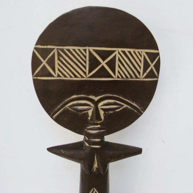 African African Wood Fertility Figurine For Sale - Image 3 of 7