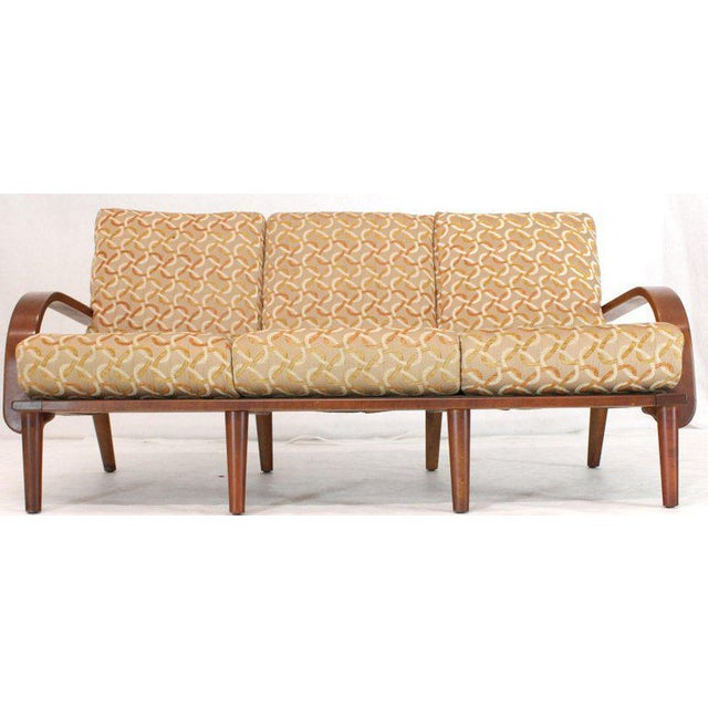 Mid-Century Modern Conant Ball Russel Right Solid Bent Maple Sofa For Sale - Image 3 of 13