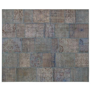Stark Studio Rugs Traditional Oriental Turkish Patchwork Wool Rug - 8′2″ × 9′10″ For Sale