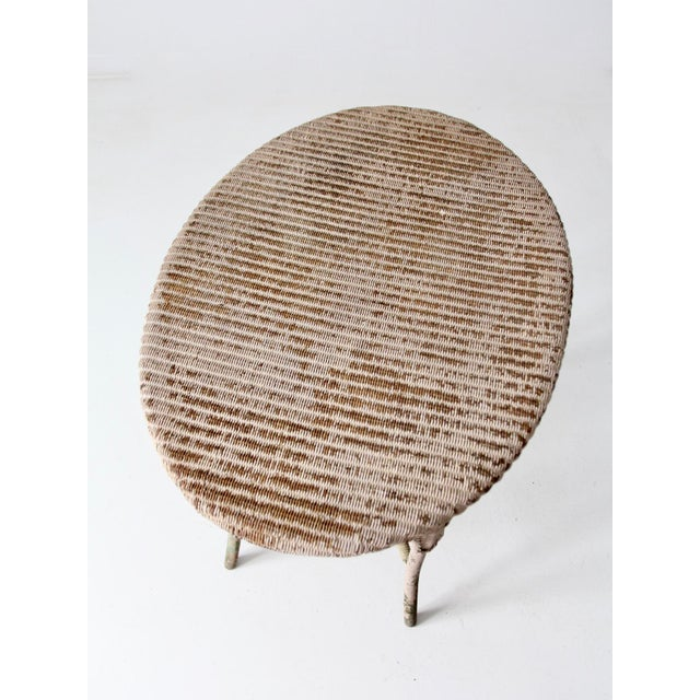 Antique Wicker Side Table For Sale - Image 12 of 13