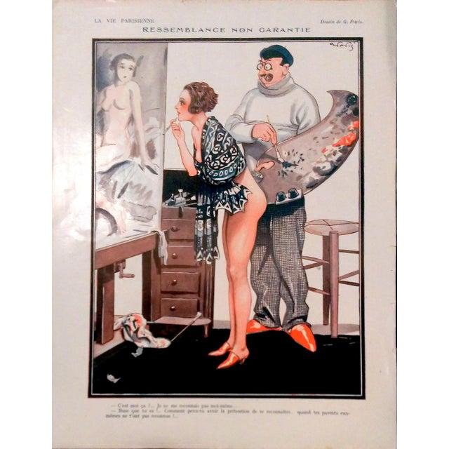 "1926 La Vie Parisienne ""Posing Pretty"" Prints - Pair - Image 6 of 10"