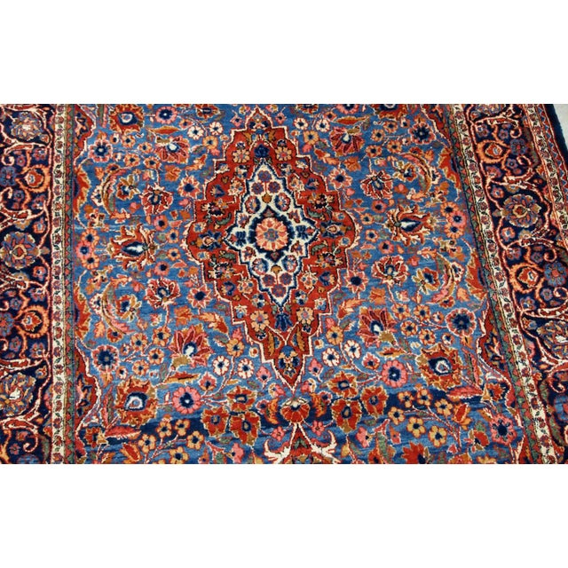 1900 - 1909 1900s, Handmade Antique Persian Kashan Rug 4.1' X 6.6' - 1b706 For Sale - Image 5 of 12