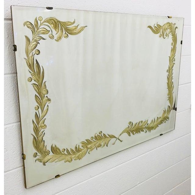 Antique Art Deco Gold Foil Mirror For Sale - Image 4 of 13