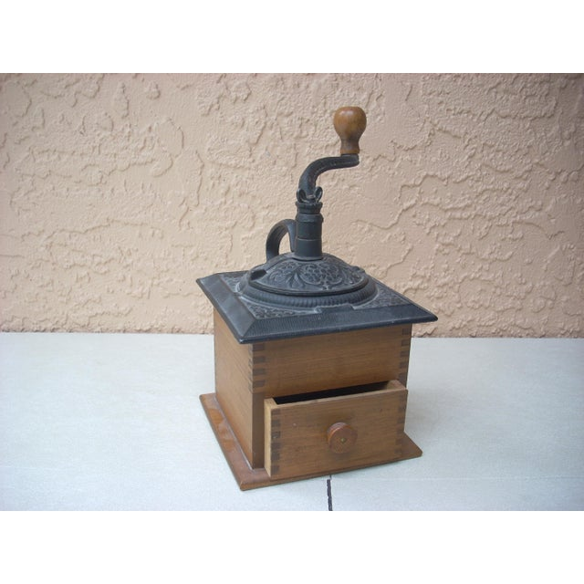Antique Wood Coffee Mill - Image 2 of 5
