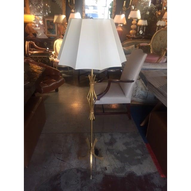 Vintage Spanish Gilt Iron Floor Lamp For Sale - Image 10 of 10