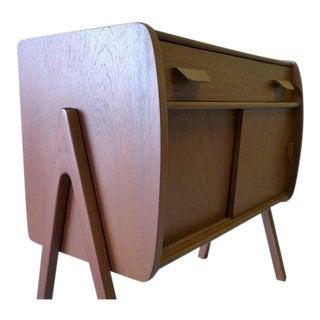 Mid Century Modern Teak Cabinet / Mini Credenza For Sale
