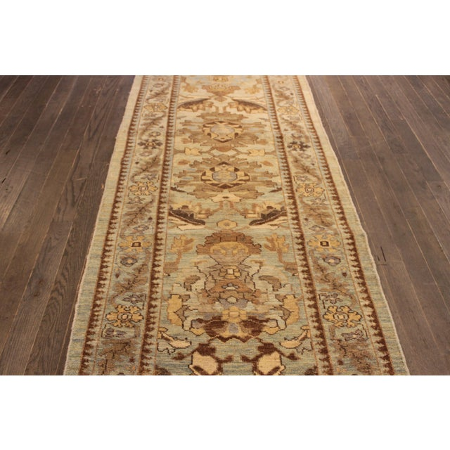 """Persian Sultanabad Rug - 3'2"""" x 13'9"""" - Image 3 of 10"""