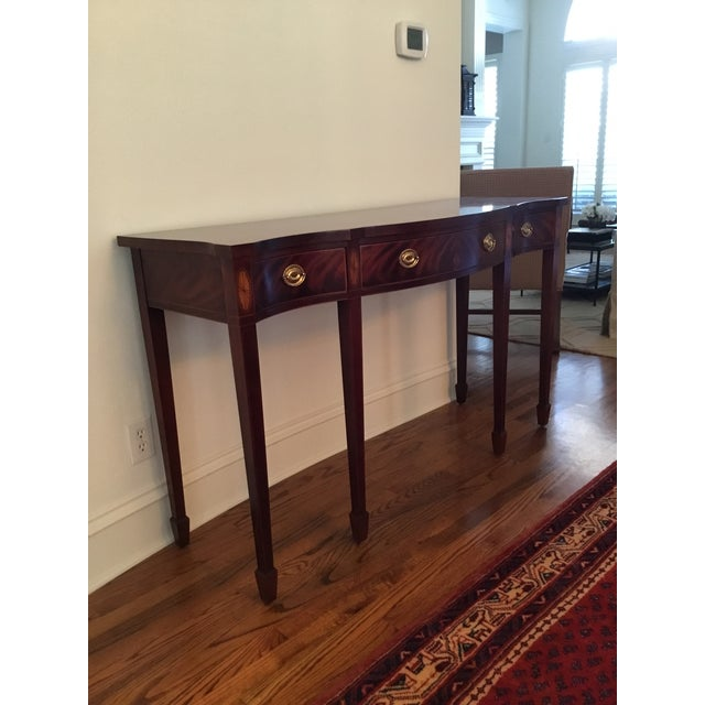 Beautiful Baker mahogany sideboard from their Historic Charleston Collection. To purchase new, this piece retailed for...