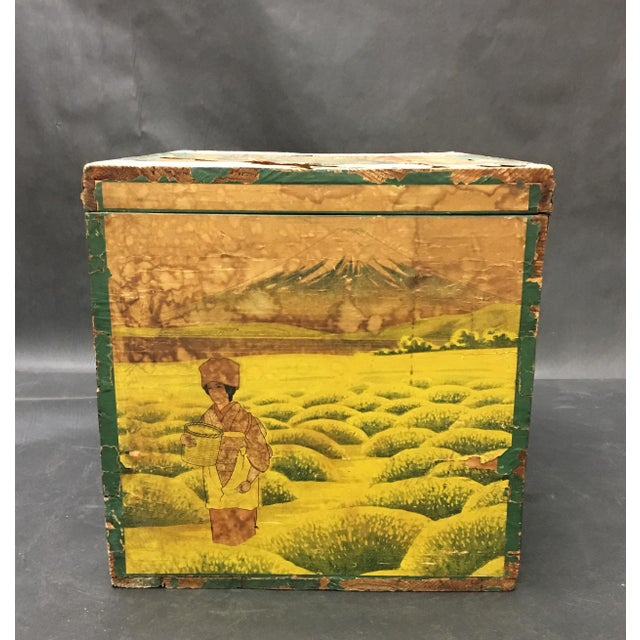 Asian 20th Century Japanese Tin Lined Tea Crate For Sale - Image 3 of 8