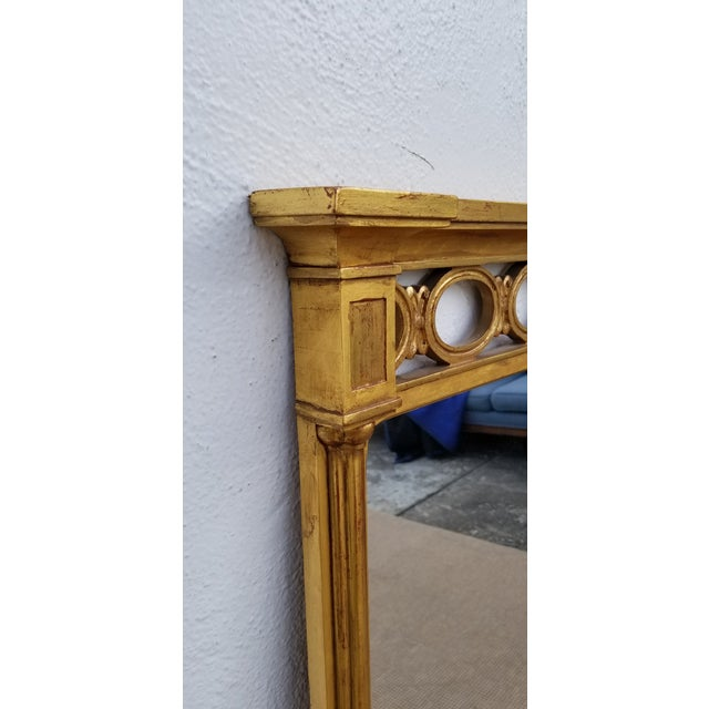 Hollywood Regency 1970s Hollywood Regency John Widdicomb Gold Carved Wood Wall Mirror For Sale - Image 3 of 11
