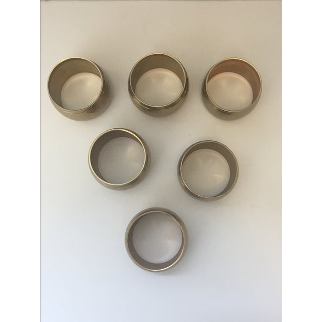 Vintage Brass Napkin Rings - Set of 6 - Image 4 of 4