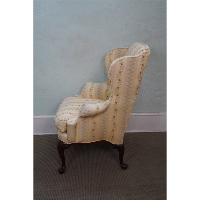 Queen Anne Style 18th Century Wing Chair - Image 3 of 10