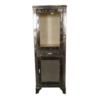 Vintage Industrial Metal Cabinet For Sale