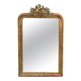 19th Century French Louis Phillipe Carved Mirror For Sale