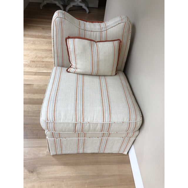 Modern Modern Linen Oomph Gossip Chair For Sale - Image 3 of 6