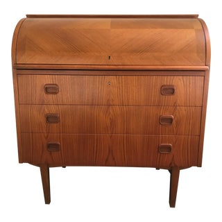Egon Ostergaard Teak Rolltop Desk For Sale