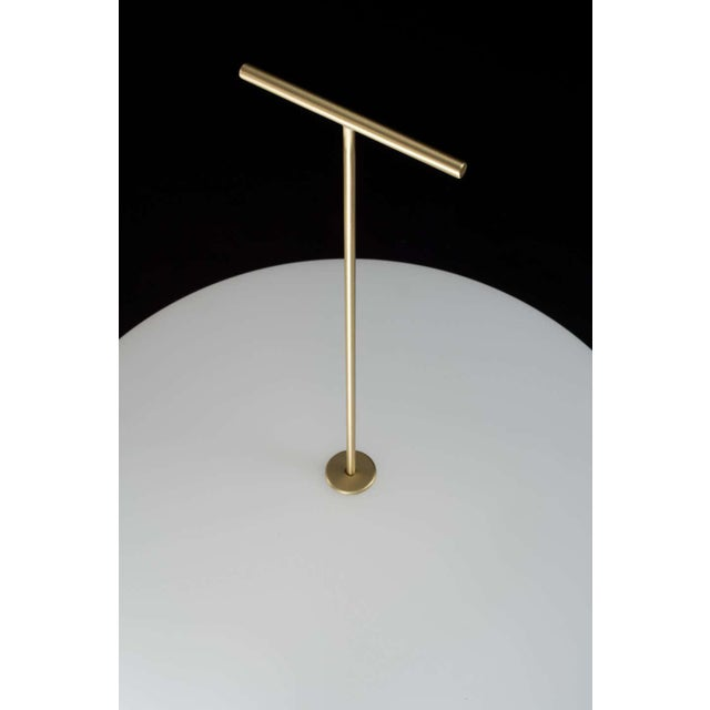 Gio Ponti Luna Orizzontale floor lamp for Tato in white and blue. Based on an incredible never before issued prototype...