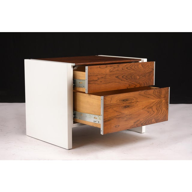 Pair of White Lacquered Glenn California Nightstands For Sale - Image 9 of 11