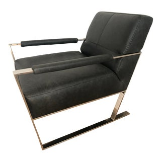 Rejuvenation Pike Chair in Charcoal. Mid Century Modern Lines For Sale