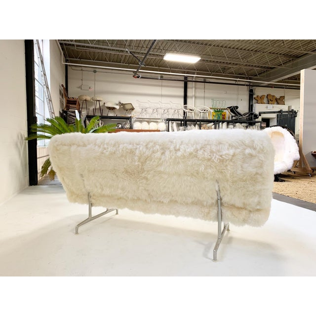 Charles and Ray Eames for Herman Miller Model 3473 Sofa, Restored in Brazilian Sheepskin For Sale - Image 9 of 10